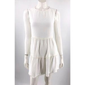For Love and Lemons Swing Dress Small White Tiered